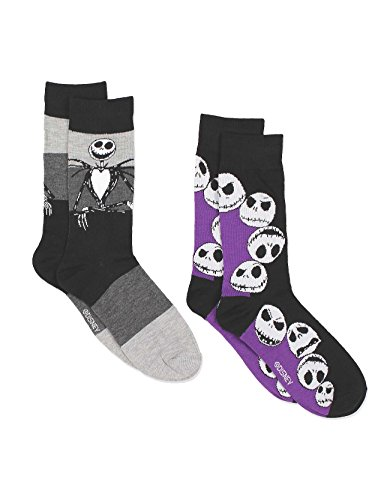 Jack From The Nightmare Before Christmas (Disney The Nightmare Before Christmas Mens Multi pack Socks (10-13 Mens (Shoe: 6-12.5), Jack 2)