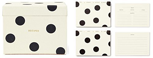 kate spade new york Recipe Box and Recipe Card - Deco Dots by Kate Spade New York