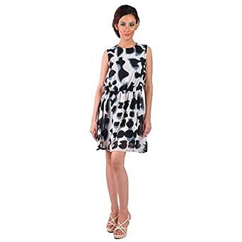 8f92a342a08 LK Vyapaar Pvt Ltd Premium Ladies Dress Stylish Western Wear for Women  Trendy New Design Party Wear A-Line by Mabyn Size-M  Amazon.in  Clothing    ...