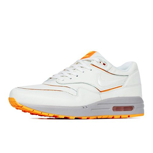 nike womens air max 1 CUT OUT PRM trainers 644398 100 sneakers shoes Sail/Atomic Mango/Med Orewood Brn COPVE