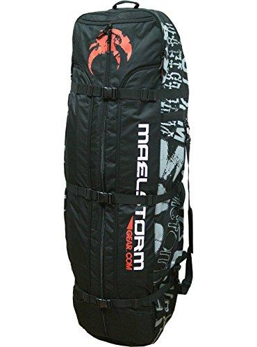 Maelstorm 150cm Kitesurfing Kite Kiteboard Gear Travel Rucksack Golf Bag Full Padded Protection Heavy Duty YKK Zippers Airline Friendly Holding 2 Kiteboarding Kites 2 Kiteboards and All Kiting Accessories