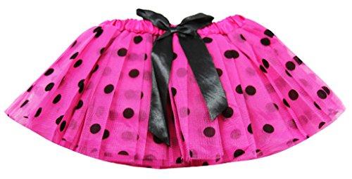 Wholesale Princess Newborn Polka Dot Tutus with Satin Ribbon Bow-Hot (Pink Ribbon Tutu)