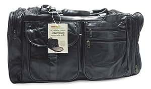"RoadPro PLB-004 26"" Black Patchwork Leather Travel Bag"