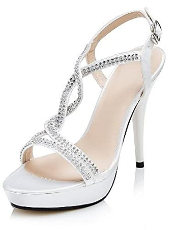 get new hot sale online new arrival Dew Ladies Wedding Shoes Heels/Plateau/T-Bar Sandals Wedding ...