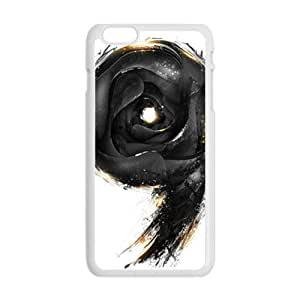 black 9 white background personalized high quality cell phone case for Iphone 6 Plus