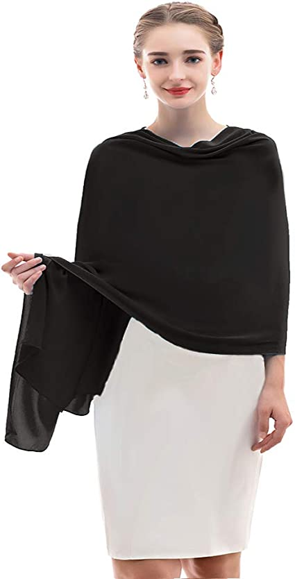 Sunnygirls Chiffon Shawl for Dresses in Different Colors To Each Wedding Dress