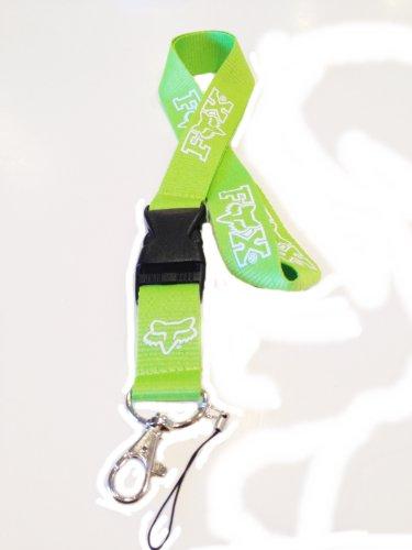 Neon Green/White Fox Lanyard Id Holder Keychain Badge - Mx Lanyard