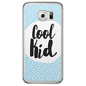 Loud Universe Samsung Galaxy S6 Edge Titles Cool Kid Printed Transparent Edge Case - Blue