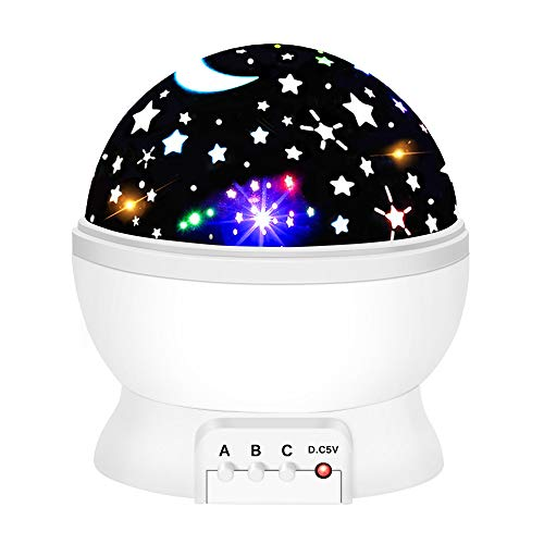 Star Night Light Projector for Kids, Tisy Star Night Lights for Kids Toys for 2-10 Year Old Boys Birthday Gifts for 2-10 Year Old Boys White TSUKXK07 -