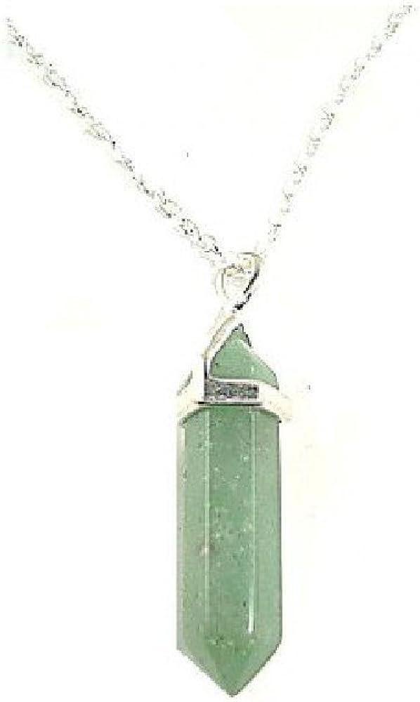 Colgante de jade biterminado con montura dorada y cadena. Ideal para regalar el Día de la Madre