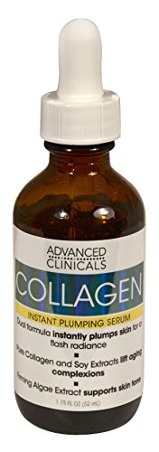 Advanced Clinicals Collagen Instant Plumping Serum for Fine Lines and Wrinkles. 1.75 Fl Oz.