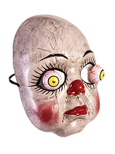 Forum Novelties 81158 Doll with Googly Eyes Adult Mask Adult One Size, Multi