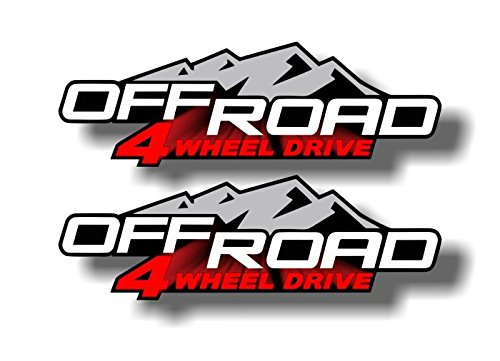 2- OFFROAD 4 WHEEL DRIVE Vinyl 12.5