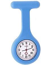 Orologio da infermiere con spilla in silicone, funziona con batterie, al quarzo, impermeabile