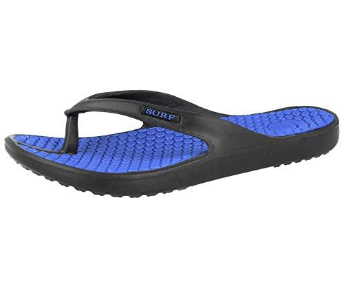 nei l'estate e piatte per gomma Blue surf 5 42 ciabatte infradito Black da Sandali ideali spiaggia a in nbsp;al 35 numeri infradito unisex dal la EVA disponibili qOf7WUA