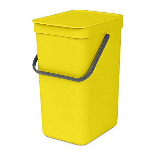 Brabantia 109768 Sort & Go Waste Bin, 12 L, Yellow