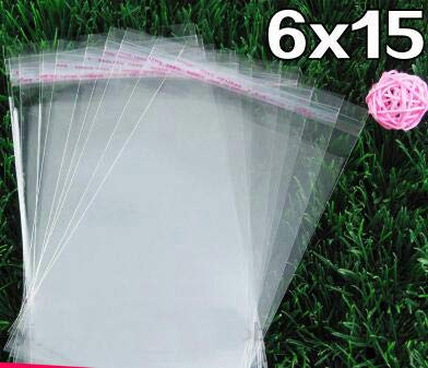 - Seal Plastic Bags 100pcs 6 15 Cm Transparent Opp Bag Packing Plastic Bags Self Adhesive Seal - Gift For Transparent Surprise Cellophane Tape Packag Goody Back Kraft