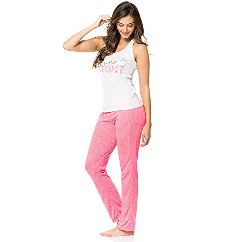 (Provocame Women Sexy Pajama Sleepwear Tank Top and Capri Set (Pants Sweet-Small))