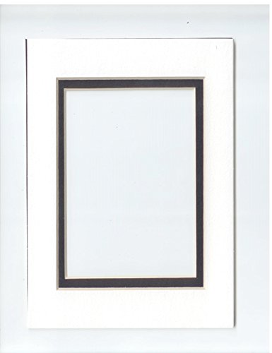 (5 x 7 Acid Free Double Beveled Photo Mat- 8 Count (White Mat/Black) )
