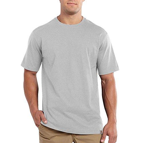Carhartt Men's Maddock Non Pocket Short Sleeve T-Shirt,Heather Gray,X-Large (T-shirt Less Mountains)