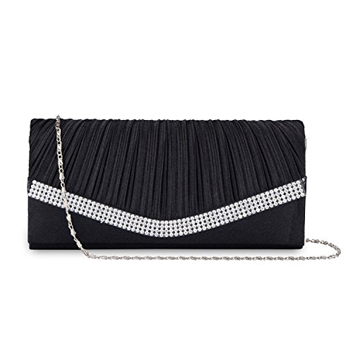 Soie Mariage Envelope Sac Purses de soir Clutch Fold Lifewish Femme Crystal wx4qfHY00