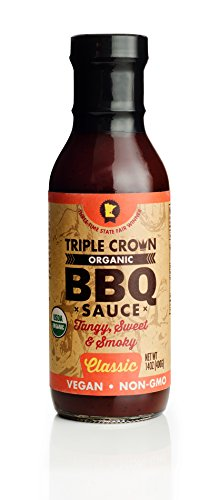 Triple Crown, Organic BBQ Sauce - Classic, 14 oz