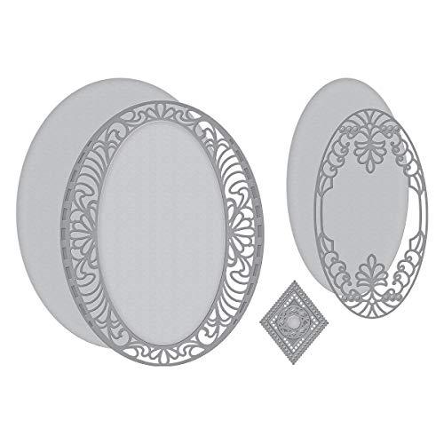 (Spellbinders S4-990 Shapeabilities Bella Luce Oval Etched/Wafer Thin Dies Metal)