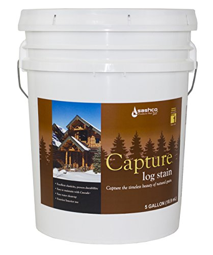 Sashco Capture Capture Log Stain, 5 Gallon Pail, Hazelnut (Pack of 1)