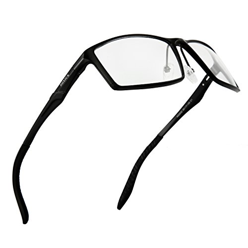 SOXICK Blue Light Blocking Anti-Glare Glasses for Professional Computer Games Monitor Screen Eye Strain Relief - Magnification 0.00 - Reading German Glasses