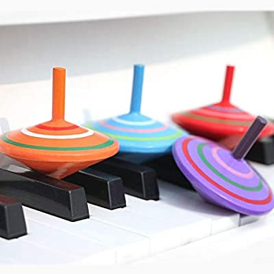 Wooden Intelligence toy Parent-child DIY Puzzle Toy Mini Wooden Rotating Gyro, Size: 6 * 6cm kids toys Early Education Wood Toys: Everything Else