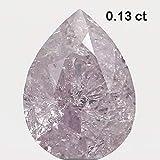 Narshiha Natural Loose Diamond Pear Pink Color I2 Clarity 4.00 MM 0.13 Ct N7487