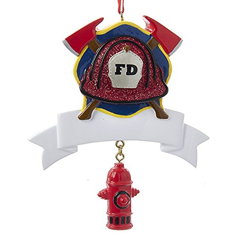 Fire Hydrant Dangle and Banner Ornament For Personalization ()
