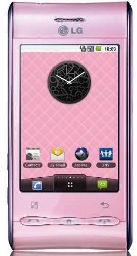 LG Optimus GT540 Unlocked GSM Quad-Band Phone with 3 MP Camera, Android OS, Touch Screen, Wi-Fi, Bluetooth--International Version with No US Warranty (Baby Pink)
