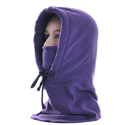 (Fansport Ski Mask Hood, Unisex Balaclava Winter Adjustable Polar Fleece Sports Mask for Outdoor)