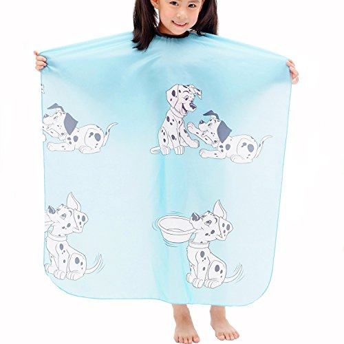 Colorfulife® Child Hair Cutting Waterproof Cape Wai Cloth Barber Kids Hair Styling Cape Professional Home Salon Camps & Hairdressing Wrap Children Cartoon Dalmatian Pattern Capes (Cutting Cloth)