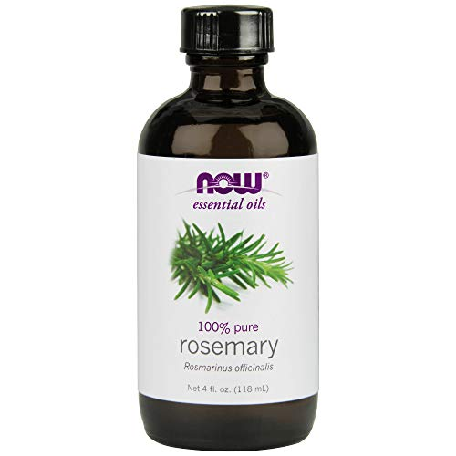 (Now Essential Oils, Rosemary Oil, Purifying Aromatherapy Scent, Steam Distilled, 100% Pure, Vegan, 4-Ounce)