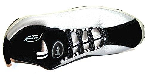 Jela a063 enfants chaussures fille-noir/argent-taille 31 (sans boîte)