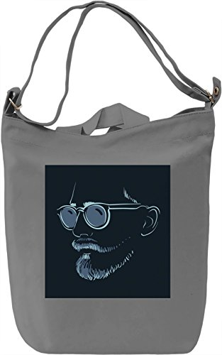Man with SunGlasses Borsa Giornaliera Canvas Canvas Day Bag| 100% Premium Cotton Canvas| DTG Printing|