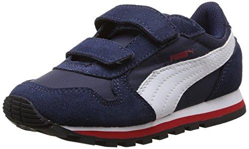 Puma St Runner Nl - Zapatillas de deporte de material sintético para niño Azul - Blau (peacoat-white-high risk red 03)