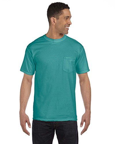 Comfort Colors 6.1 oz. Garment-Dyed Pocket T-Shirt, Large, SEAFOAM Comfort Colors 100% Garment