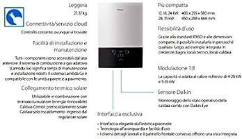 Caldera de condensación DAIKIN 24 kW ultracompacta, calefacción, producción de agua sanitaria instantánea + Kit de humos: Amazon.es: Bricolaje y herramientas