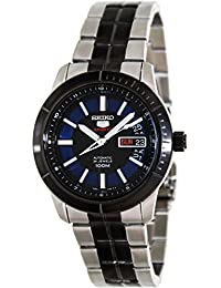 Seiko Men's 5 Automatic SRP343K Black Stainless-Steel Automatic Watch