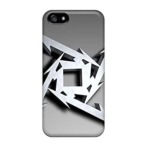 Protector Hard Phone Cases For Iphone 5/5s With Customized Nice Metallica Series MansourMurray