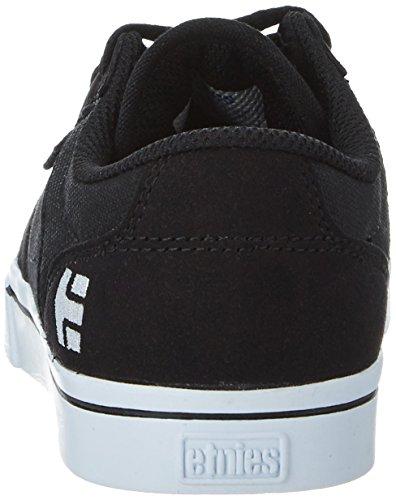 Etnies Unisex-Kinder Kids Barge LS Low-Top Schwarz (Black/White)