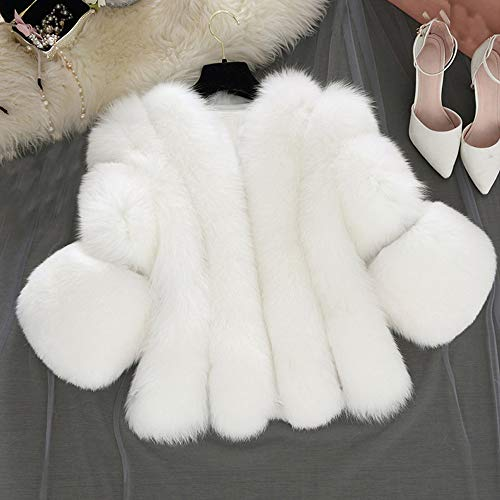 Yuxikong Women's Rabbit Faux Fur Coat Winter Chic Solid, used for sale  Delivered anywhere in USA