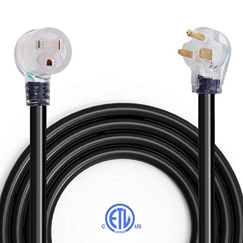 25Ft Welder Extension Cord, BougeRV 8AWG/3C Heavy Duty Industrial Welding Cord Nema 6-50 40 Amps with Lighted End, ETL Approved for Hobart, Lincoln, Miller Welder
