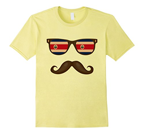 Mens Costa Rican Flag Sunglasses Moustaches Shirt Costa Rica Tee Large - Costa Sunglasses Outlet