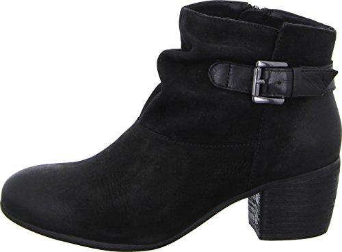 Red Boxx 253001 Damenstiefelette Ankle Boots Lederstiefel 5cm Blockabsatz Farbe: Schwarz