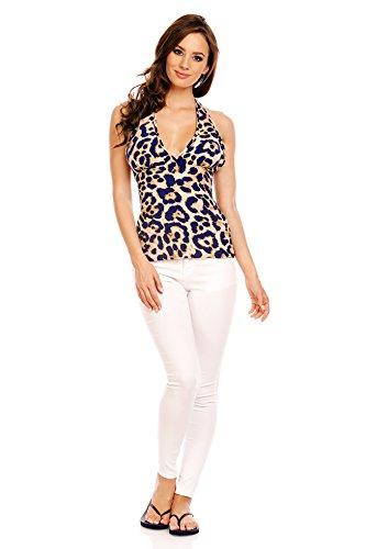 Spots Leopard Damen Blue Suri Mia Beige Kleid w8FYpqZ