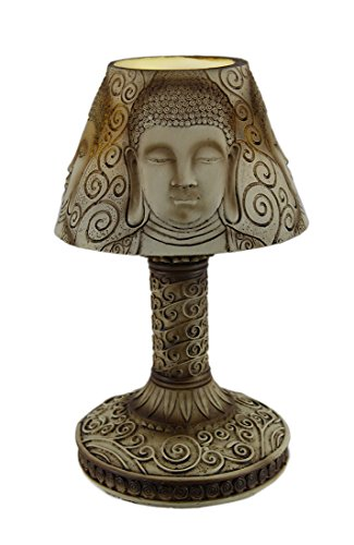 Resin Accent Lamps 10 Inch Tall Battery Operated Buddha Shade Led Accent Lamp 5.75 X 10 X 5.75 Inches ()